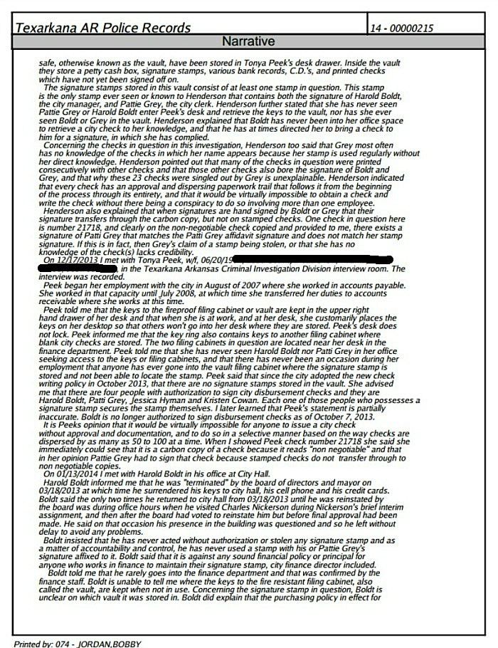 Page two redacted