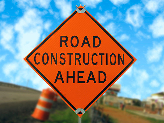 Road construction sign.
