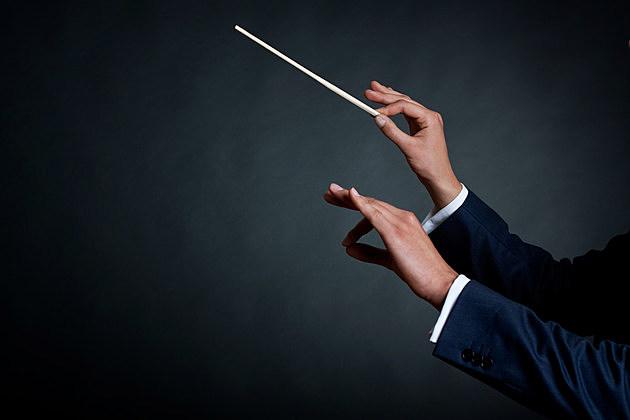 male orchestra conductor